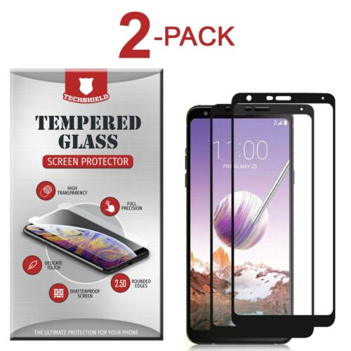 2-Pack Full Coverage Tempered Glass Screen Protector For LG Stylo 4