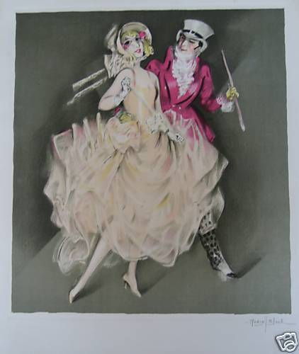 "BLOCH MARCEL          LITHOGRAPHIE   "" LE DANDY ROSE"""