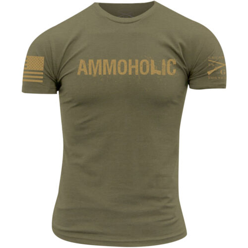 Grunt Style Ammoholic T-Shirt - Olive Green <br/> Exclusive Seller of Grunt Style on eBay