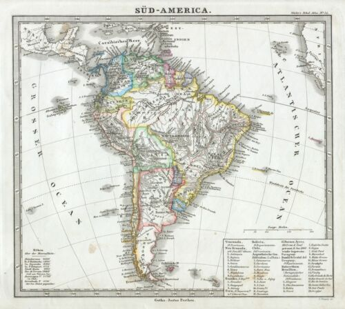 1862 Perthes map of South America
