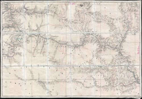 1910 French Map of the Mai Chau region of northern Vietnam