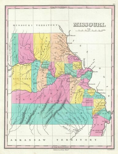 1828 Finley Map of Missouri