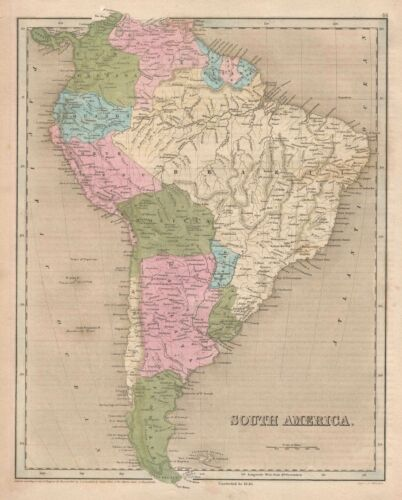 1846 Bradford Map of South America