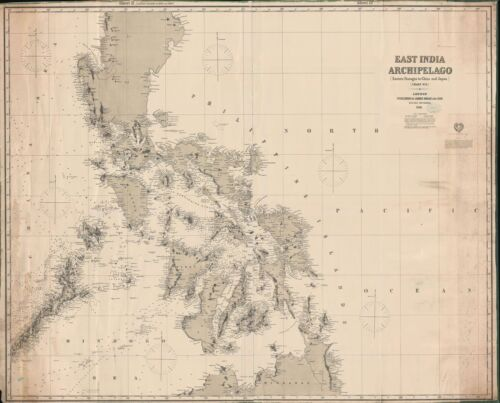 1881 Imray Blueback Chart or Map of the Philippines