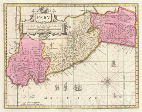 1700 Schenk and Valk Map of Peru