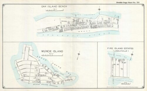 1915 Hyde Map of Oak Beach and Lonelyville, New York