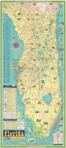 1960 Rand McNally Pictorial Road Map of Florida