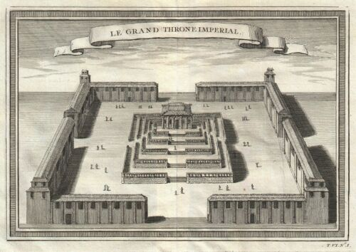 1756 Bellin View of the Grand Throne Room in the Forbidden City, Beijing, China