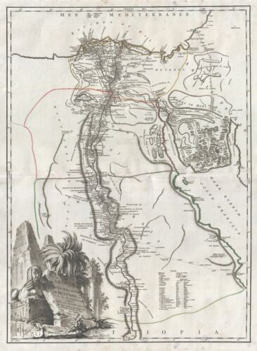 1753 Vaugondy Map of Egypt