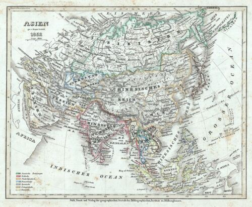 1852 Meyer Map of Asia
