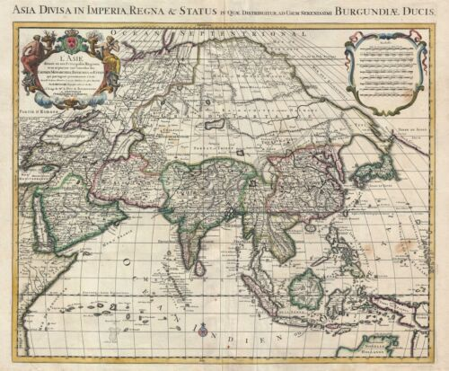 1730 Covens and Mortier (Delisle) Map of Asia
