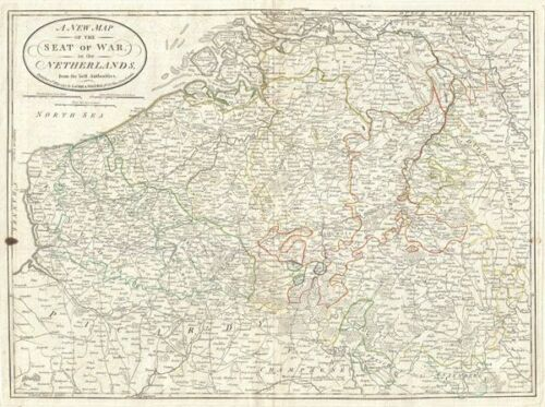 1794 Laurie and Whittle Map of Belgium