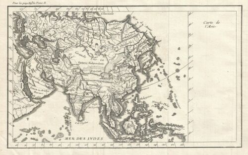 1790 Map of Asia
