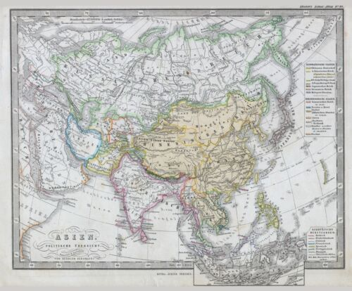 1862 Perthes Map of Asia