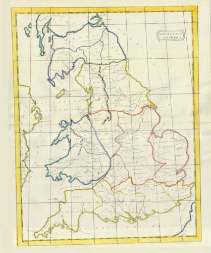 1823 Manuscript Map of England in Antiquity