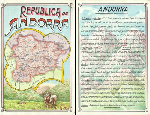 1939 Award Winning Raggio Manuscript Map of Andorra