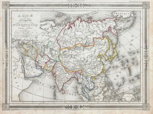 1852 Bocage Map of Asia