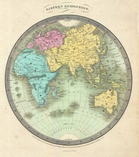 1834 Burr Map of the Eastern Hemisphere