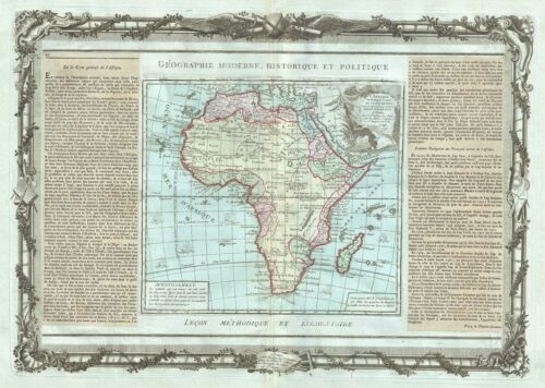1786 Desnos and de la Tour Map of Africa