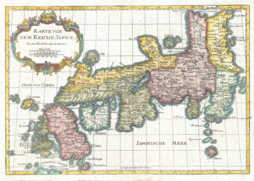 1752 Bellin Map of the Empire of Japan
