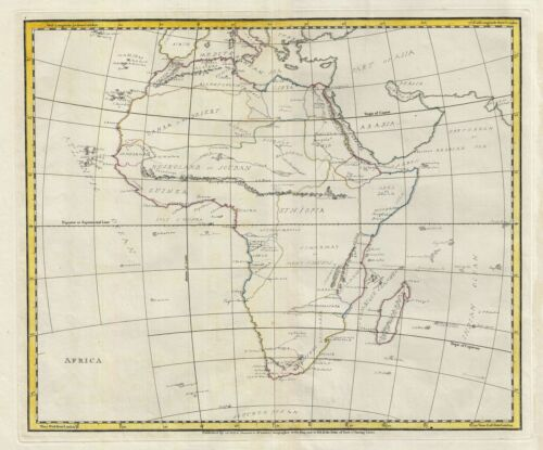 1823 Manuscript Map of Africa