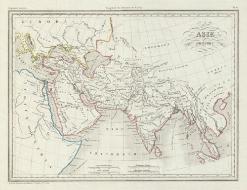 1843 Malte-Brun Map of Ancient Asia