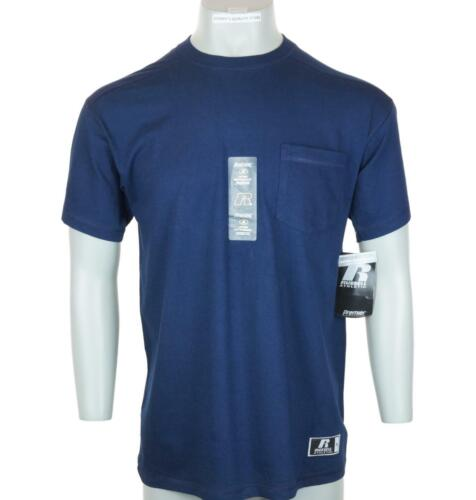 Nuovo Uomo Russell Athletic Performance Assorbimento Umidità Tasca T-Shirt M XL
