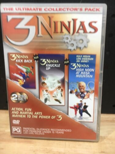 3 NINJAS THE ULTIMATE COLLECTORS PACK 2 DISC SET PG - GOOD CONDITION