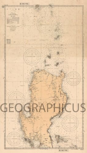 1953 OR SHOWA 27 JAPANESE NAUTICAL CHART OR MARITIME MAP OF NORTHERN LUZON