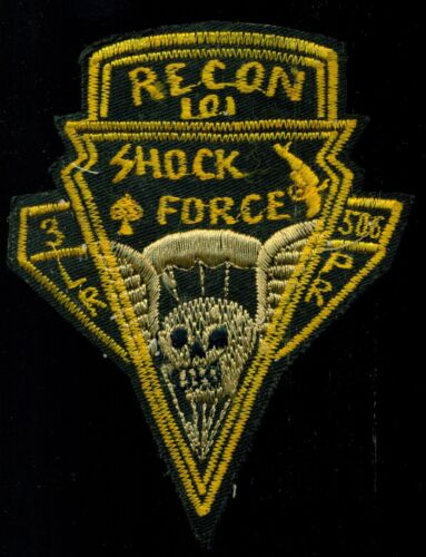 US Army 3 BN 506th INF Regt. Airborne Parachute Recon LRPP Shock Force Patch HM2Marine Corps - 66531