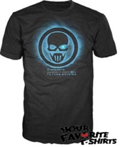 Ghost Recon Blu Logo Gamer Autorizzato T-Shirt per Adulti