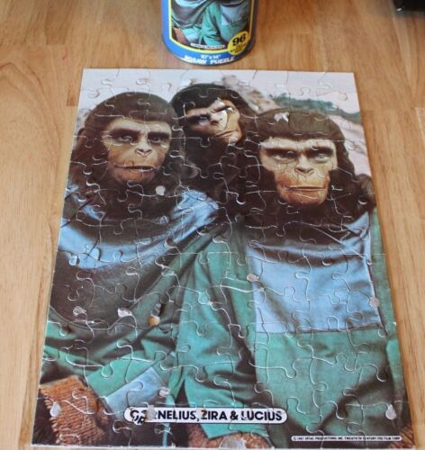 PLANET OF THE APES JIGSAW PUZZLE IN A CAN CORNELIUS ZIRA LUCIUS 1967 COMPLETE