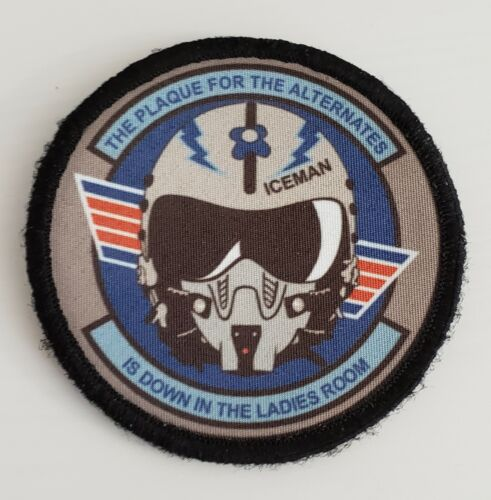Top Gun Iceman Alternates Plaque Morale Patch Tactical Military Usa Flag F14