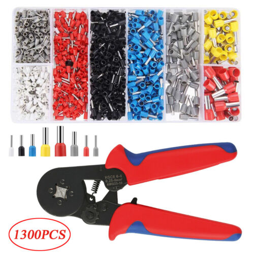 1300X Terminals Electrical Wire Connector Kit Assorted Insulated Crimp Spade Set