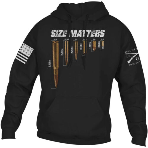 Grunt Style Size Matters Pullover Hoodie - Black <br/> Exclusive Seller of Grunt Style on eBay