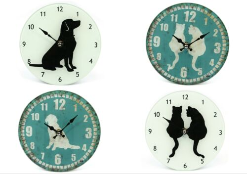 Glass Animal Print Design Wall or Free-Standing Clock