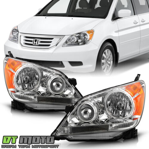 For 2008-2010 Honda Odyssey Headlights Chrome Headlamps Replacement Left+Right <br/> Limited Life Time Warranty,free return,SAE DOT approved