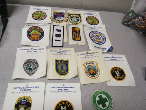 Military Patch Lot Set Of 15 Different Police Law Enforcement Lot #3