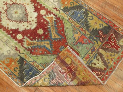 Antique Decorative Turkish Melas Oushak Rug Size 3'x6'1''
