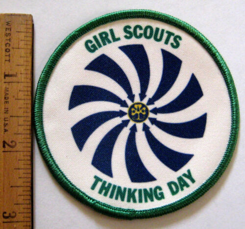Girl Scout 2006 THINKING DAY PATCH World Friendship Cute Earth w//Telescope NEW