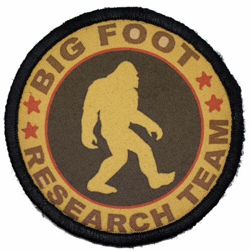 Big Foot Research Team Morale Patch Tactical Military Army Flag USA Hook GolfArmy - 48824