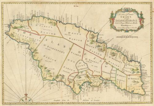 1773 Mount and Page Map of Jamaica