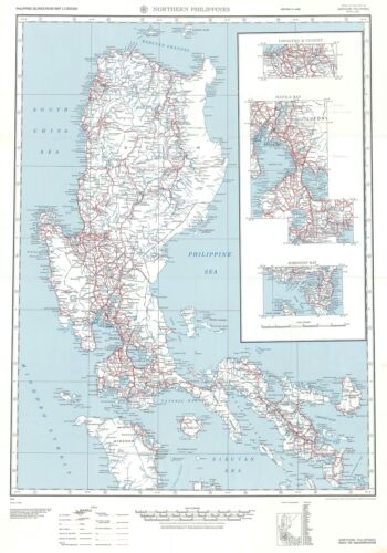 1944 Army Map Service Road Map of Northern Luzon, Philippines