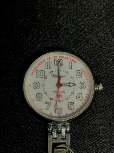 VINTAGE NURSE WATCH BY CLASSIQUE PRO CARE  50 METERS WATER RESISTANT