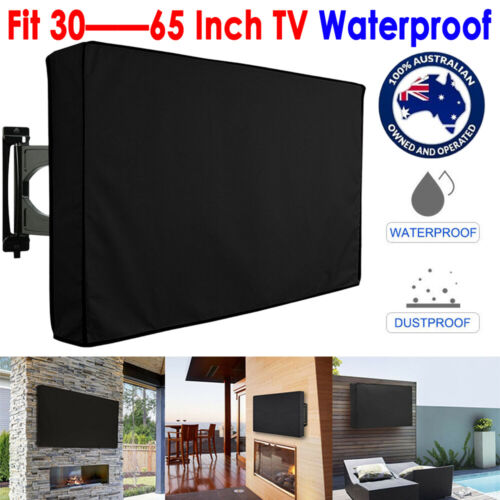 Outdoor Waterproof TV Cover Black Television Protector For 22'' to 65'' LCD LED <br/> 3 layer protection☆Black☆Weatherproof☆Fast & Free Post☆