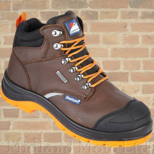 Himalayan S3 Safety Boots Steel Toe Cap Waterproof Brown Leather 5403