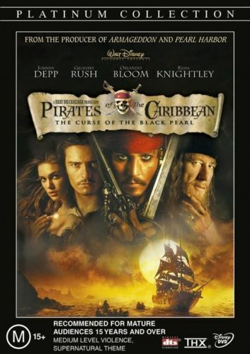 Pirates Of The Caribbean - The Curse Of The Black Pearl (DVD Sealed + Free Post)