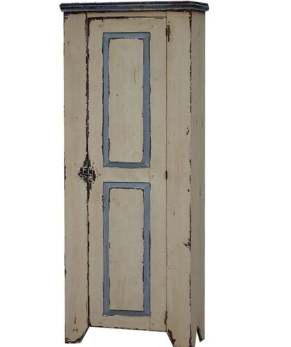 PRIMITIVE PAINTED DISTRESSED COUNTRY FURNITURE CABINET CUPBOARD FARMHOUSE PINE