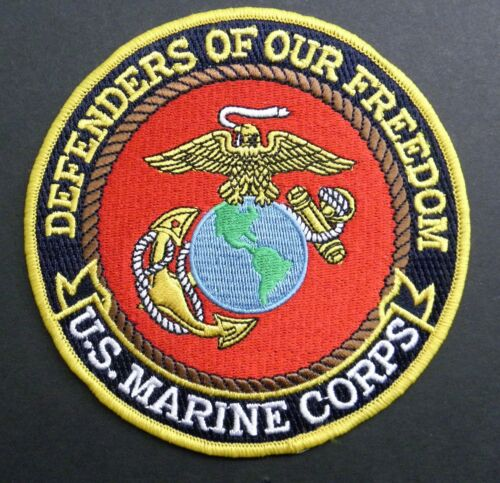 MARINE USMC DEFENDERS OF OUR FREEDOM EMBROIDERED JACKET PATCH 5 INCHES MARINESMarine Corps - 66531
