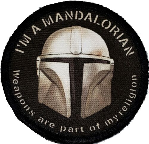 Mandalorian Weapons are a part of my religion Morale Patch Tactical MilitaryArmy - 48824